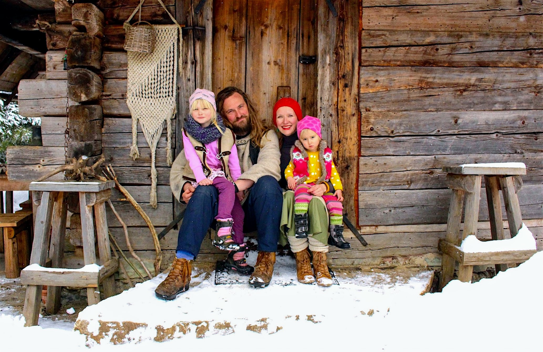 Family Šahinpašić at Vukov Konak, Bosnian Mountain Lodge